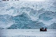 Tourists in Zodiac<br /> Spitsbergen<br /> Svalbard<br /> Norway<br /> Arctic Ocean