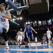Anadolu Efes's Cedi Osman (C) during their Turkish Airlines Euroleague Basketball PlayOffs Round 4 match Anadolu Efes between Real Madrid at Abdi ipekci arena in Istanbul, Turkey, Thursday April 23, 2015. Photo by Aykut AKICI/TURKPIX