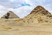 Pyramid of Userkaf located northeast of Djoser's step pyramid complex at Saqqara