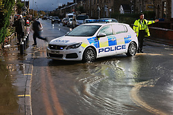 © Licensed to London News Pictures. 06/10/2020. Bury, UK. Houses and roads flood on Tottington Road in Bury following heavy rain overnight. Photo credit: Joel Goodman/LNP