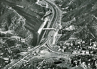 1952 Building the 101 Hollywood Freeway through the Cahuenga Pass