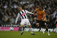Photo: Rich Eaton.<br /> <br /> West Bromwich Albion v Wolverhampton Wanderers. Coca Cola Championship. Play off Semi Final 2nd Leg. 16/05/2007. West Broms Chris Perry  #4 shields the ball from Jay Bothroyd