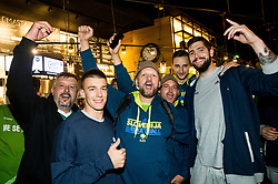 Matic Rebec of Slovenia and Ziga Dimec of Slovenia at Fans' reception of Team Slovenia after the basketball match between National Teams of Slovenia and Greece at Day 4 of the FIBA EuroBasket 2017  in Teerenpeli bar, Helsinki, Finland on September 3, 2017. Photo by Vid Ponikvar / Sportida