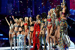 Models on the catwalk for the Victoria's Secret Fashion Show at the Mercedes-Benz Arena in Shanghai, China