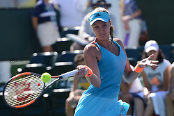 March 11, 2017 - Indian Wells, California, United States - KRISTINA MLADENOVIC of France in her match vs. A. Beck in the BNP Paribas Open tennis tournament in Indian Wells California. (Credit Image: © Christopher Levy via ZUMA Wire)