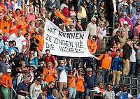 LONDEN - Oranje publiek ,maandag in de hockey wedstrijd tussen de mannen van Nederland en India tijdens de Olympische Spelen in Londen .ANP KOEN SUYK