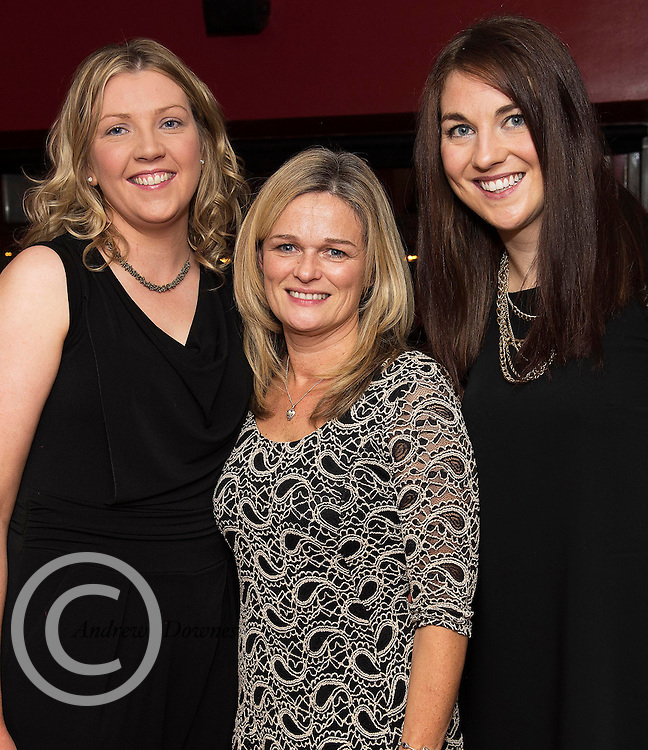 07/12/2014 Linda Flaherty, Ann Byrne from Kinvara and Emer Fahy Ballinderreen  at The Pier Head, Kinvara for Oiche Nollaig na mban (night out for the chicks!) started out as a fun Christmas night for the ladies. Organised by Mary Moloney, Ruth sexton, Valerie Forkan, Sarah Linnane & Jackie Veale, the women quickly decided to make it a fundraiser. Being a women's night the obvious charity of choice was breast cancer awareness, the NBCRI was the chosen beneficiary.  120 participated in the chain link, all sporting a variety of pink bras! Some Christmas carols at the village tree while hanging the bras on the tree was another highlight! PHOTO:Andrew Downes