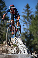 Howard Grotts (USA) during the Mens Elite Cross Country event at the 2018 UCI MTB World Championships - Lenzerheide, Switzerland