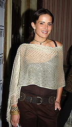 SOPHIE ANDERTON at a party to celebrate Pamela Anderson's new role as spokesperson and newest face of the MAC Aids Fund's Viva Glam V Campaign held at Home House, Portman Square, London on 21st April 2005.<br /><br />NON EXCLUSIVE - WORLD RIGHTS