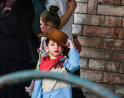 A young orthodox boy in Purim costume Photographed in Bnei Brak, Israel