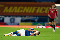 Football - 2020 / 2021 League Cup - Quarter-Finbal - Everton vs Manchester United - Goodison Park<br /> <br /> <br /> Everton Richarlison holds his head following a challenge<br /> <br /> COLORSPORT/TERRY DONNELLY