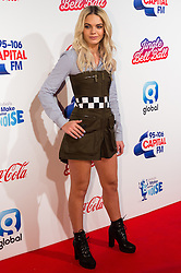 © Licensed to London News Pictures. 03/12/2016. LOUISA JOHNSON attends Capital's Jingle Bell Ball with Coca-Cola at London's O2 Arena London, UK. Photo credit: Ray Tang/LNP