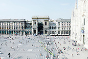 Milan , Piazza del duomo, view from 900 Museum
