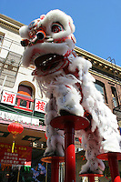 Lion Dance, Harvest Moon Festival, San Francisco Chinatown - The Mid-Autumn Festival, also known as the Moon Festival or Harvest Moon Festival is celebrated with lion dances, moon cakes.   It is usually held around mid or late September in China, Vietnam and Chinatowns around the world.