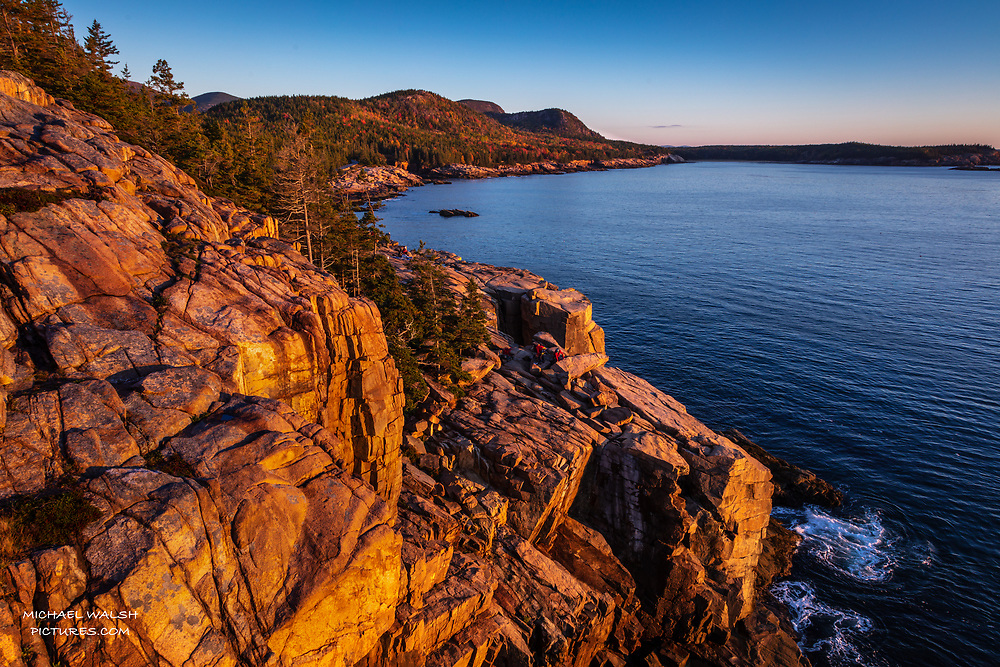 """TO PURCHASE: Simply click """"Add to Cart"""" to see prints and products available.<br /> <br /> Acadia National Park is an American jewel located on the stunning coast of Maine.<br /> <br /> The first national park located east of the Mississippi River it boasts views unlike anything on the eastern seaboard.<br /> <br /> This image was captured at sunrise at Otter Point a popular location in heart of Acadia. The cliffs are notorious for their colorful hues at sunrise.<br /> <br /> Camera Data:<br /> f/13, 1/20sec, 24mm, ISO100<br /> RAW, Manual Mode, Evaluative Metering<br /> Tripod, Bare Glass, Lr<br /> Canon 5ds, Canon EF 24-105mm<br /> <br /> High Resolution Image"""