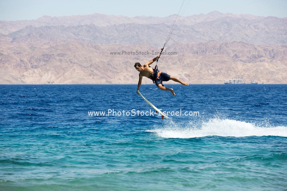 Kite surfing in the Gulf of Aqaba