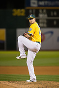Oakland Athletics relief pitcher Ryan Madson (44) pitches against the Baltimore Orioles in the ninth inning at Oakland Coliseum in Oakland, Calif. on August 8, 2016. (Stan Olszewski/Special to S.F. Examiner)