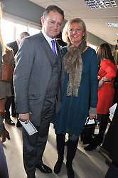 HUGH & LULU BONNEVILLE at the 2012 Hennessy Gold Cup at Newbury Racecourse, Berkshire on 1st December 2012