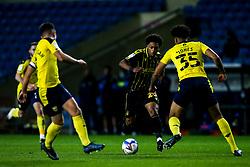 Zain Walker of Bristol Rovers takes on Nico Jones of Oxford United - Mandatory by-line: Robbie Stephenson/JMP - 06/10/2020 - FOOTBALL - Kassam Stadium - Oxford, England - Oxford United v Bristol Rovers - Leasing.com Trophy