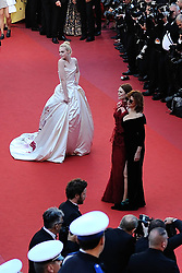 Elle Fanning arriving at Les Fantomes d'Ismael screening and opening ceremony held at the Palais Des Festivals in Cannes, France on May 17, 2017, as part of the 70th Cannes Film Festival. Photo by Aurore Marechal/ABACAPRESS.COM