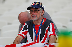 London, 2017-August-04. Great Britain supporter at the London Stadium ahead of the opening of the IAAF World Championships London 2017. Paul Davey.