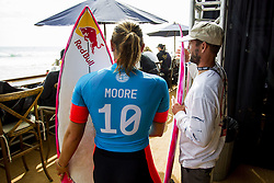 September 12, 2017 - Three Time World Champion Carissa Moore of Hawaii before her heat in Round Three of the Swatch Pro at Trestles, CA, USA...Swatch Pro 2017, California, USA - 12 Sep 2017 (Credit Image: © Rex Shutterstock via ZUMA Press)