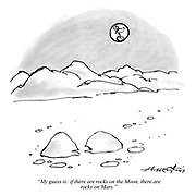 """""""My guess is: if there are rocks on the Moon, there are rocks on Mars."""""""