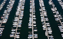 Aerial view of Largs Yacht Haven , Scotland, UK