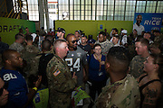 January 27 2016: Oakland Raiders Charles Woodson was very popular during the Pro Bowl Draft at Wheeler Army Base on Oahu, HI. (Photo by Aric Becker/Icon Sportswire)