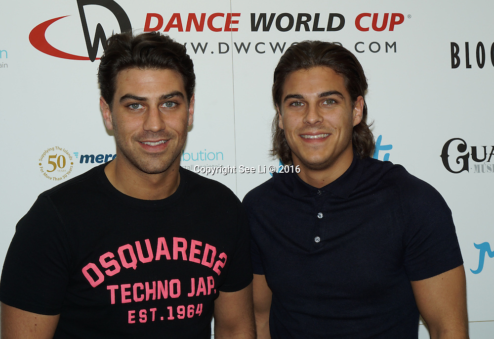 London,England,UK : 28th April 2016 : Jon Clark,Chris Clark attend the Kimberly Wyatt launches the 2016 annual BLOCH Dance World Cup at BLOCH, 35 Drury Lane, Covent Garden, London. Photo by See Li