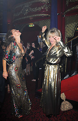 Left to right, ANDREA DELLAL and JO WOOD at a party and fashion show to celebrate the 40th anniversary of Butler & Wilson held at Koko, 1 Camden High Street, London NW1 on 12th November 2009.