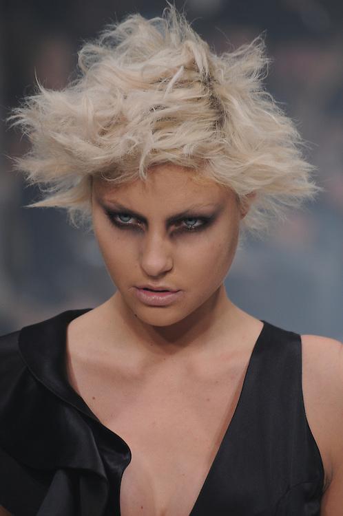 Models walk the runway for Carlotta Actis Barone Spring 2012 fashion show during London Fashion Week, London, UK. 18/02/2012 Anne-Marie Michel/CatchlightMedia