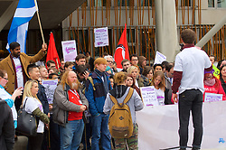 Stop the Cuts, Student Demonstration, outside The Scottish Parliament, Hollyrood, Edinburgh, 23rd March 2016<br /> (c) Brian Anderson | Edinburgh Elite media
