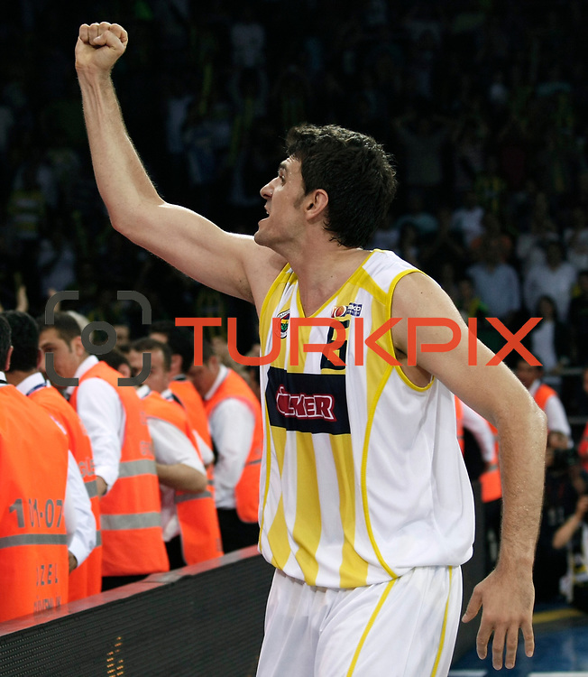 Fenerbahce Ulker's Mirsad TURKCAN during their Turkish Basketball league Play Off Final third leg match Fenerbahce Ulker between Efes Pilsen at the Abdi Ipekci Arena in Istanbul Turkey on Tuesday 25 May 2010. Photo by Aykut AKICI/TURKPIX