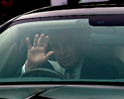 The Duke of York leaves his home in Windsor, Berkshire, the day after he suspended his work with his charities, organisations and military units because of the fallout from his friendship with sex offender Jeffrey Epstein.
