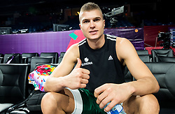 Edo Muric of Slovenia at practice session of Team Slovenia 1 day before final match against Serbia at Day 17 of FIBA EuroBasket 2017 at Sinan Erdem Dome in Istanbul, Turkey on September 16, 2017. Photo by Vid Ponikvar / Sportida