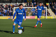 AFC Wimbledon attacker Shane McLoughlin (19) dribbling  during the EFL Sky Bet League 1 match between AFC Wimbledon and Fleetwood Town at the Cherry Red Records Stadium, Kingston, England on 8 February 2020.