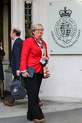 © Licensed to London News Pictures. 17/09/2019. London, UK. Joanna Cherry QC MP - SNP MP for Edinburgh South West arrive at UK Supreme Court in London as the court begins a three day appeal hearing in the multiple legal challenges against the Prime Minister Boris Johnson's decision to prorogue Parliament ahead of a Queen's speech on 14 October. Eleven instead of the usual nine Supreme Court justices will hear the politically charged claim that Boris Johnson acted unlawfully in advising the Queen to suspend parliament for five weeks in order to stifle debate over the Brexit crisis. It is the first time the Supreme Court has been summoned for an emergency hearing outside legal term time. Lady Hale, the first female president of the court who retires next January, will preside. Photo credit: Dinendra Haria/LNP