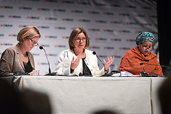 """29 October 2018, Uppsala, Sweden: Isabella Löwin speaks during a plenary on """"The role of faith based actors in achieving the 2030 Agenda for Sustainable Development"""". The session included speeches by Amina Mohammed, Deputy Secretary General of the United Nations, Carin Jämtin, Director General of Swedish International Development Cooperation Agency, and Swedish deputy Prime Minister Isabella Löwin. Rev. Dr Martin Junge, General Secretary of the Lutheran World Federation moderated the session."""