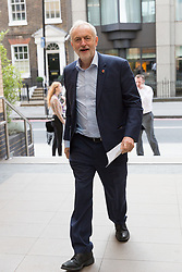 """© Licensed to London News Pictures. 14/10/2017. LONDON, UK.  Labour leader, Jeremy Corbyn arrives to make a speech on """"Ideas to Change Britain"""" at the Co-operative Party Centenary Conference.  Photo credit: Vickie Flores/LNP"""