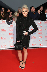 Amelia Lily attending the National Television Awards 2018 held at the O2, London. Photo credit should read: Doug Peters/EMPICS Entertainment