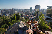 City view from Cerro Santa Lucia, Santiago, Chile.