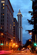 Smith Tower, located in Pioneer Square, is the oldest skyscraper in Seattle, Washington. (Ellen M. Banner / The Seattle Times)