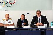 DESCRIZIONE : Roma Coni Conferenza Stampa Nazionale Italia Under 18 Maschile Basket On Board sulla portaerei Cavour<br /> GIOCATORE : De Giorgi Petrucci Meneghin<br /> CATEGORIA : curiosita ritratto<br /> SQUADRA : Fip <br /> EVENTO : Conferenza Stampa Nazionale Italia Under 18<br /> GARA : <br /> DATA : 09/07/2012 <br />  SPORT : Pallacanestro<br />  AUTORE : Agenzia Ciamillo-Castoria/GiulioCiamillo<br />  Galleria : FIP Nazionali 2012<br />  Fotonotizia : Roma Coni Conferenza Stampa Nazionale Italia Under 18 Maschile Basket On Board sulla portaerei Cavour<br />  Predefinita :