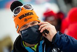 Miha Verdnik during 2nd Run of Ladies' Giant Slalom at 57th Golden Fox event at Audi FIS Ski World Cup 2020/21, on January 17, 2021 in Podkoren, Kranjska Gora, Slovenia. Photo by Vid Ponikvar / Sportida