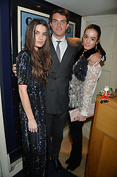 Left to right, JENNIFER MEDHURST, VISCOUNT ERLEIGH and OLIVIA CALLAGHAN at a party hosted by Lady Kinvara Balfour, Lavinia Brennan and Lady Natasha Rufus Isaacs to celebrate the Beulah French Sole Collaboration in aid of the UN Blue Heart Campaign, held at George, 87-88 Mount Street, London on 10th December 2013.