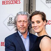 NLD/Amsterdam/20140622 - Premiere Bedscenes, Hajo Bruins en partner Linde van den Heuvel