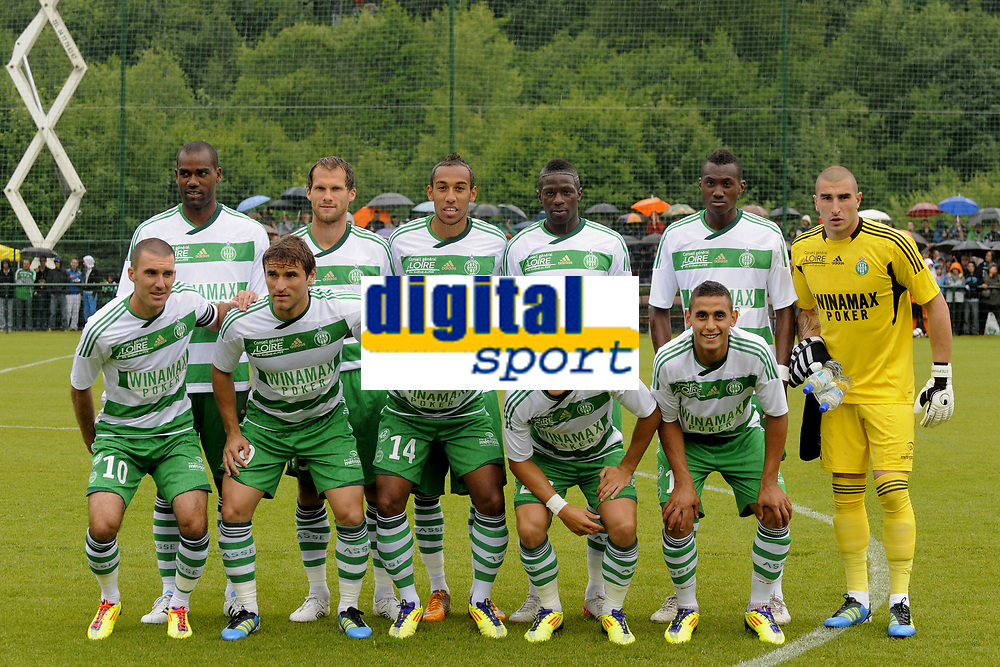 FOOTBALL - FRIENDLY GAMES 2011/2012 - LILLE v ST ETIENNE - 23/07/2011 - PHOTO JEAN MARIE HERVIO / DPPI - TEAM SAINT-ETIENNE: BACK ROW LEFT TO RIGHT: PAULAO / SYLVAIN MARCHAL / PIERRE EMERICK AUBAMEYANG / BAKARY SAKO / JOSUHA GUILAVOGHI / STEPHANE RUFFIER. FRONT ROW: LAURENT BATLLES / GONZALO BERGESSIO / FLORENT SINAMA PONGOLLE / LORIS NERY / FAOUZI GHOULAM;