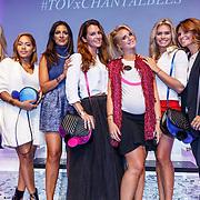 NLD/Amsterdam/20150827 - Presentatie TOVxChantal bag, Annick van Wonderen, Winonah de Jong, Sarissa Ling, Quinty Trustfull, Chantal Bles, Nicolette van Dam en Leontien Borsato