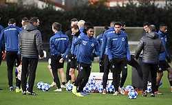 December 10, 2018 - Bruges, Belgique - BRUGGE, DECEMBER 10 : Emmanuel Bonaventure Dennis forward of Club Brugge and Cyril Ngonge of Club Brugge pictured during practice session the day before the UEFA Champions League group A match between Club Brugge KV and Atletico Madrid on December 10, 2018 in Brugge, 10/12/2018 (Credit Image: © Panoramic via ZUMA Press)